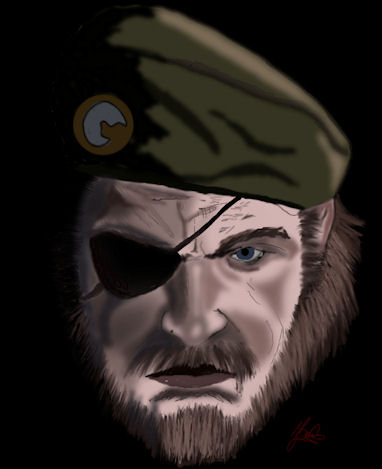 Big Boss - Peace walker -drawn by jillysb